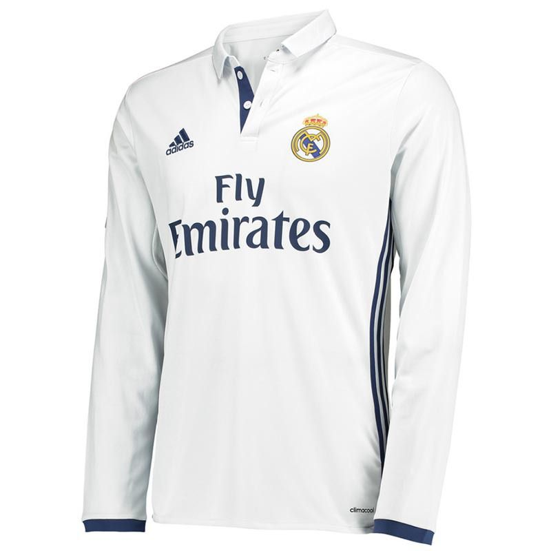 Real Madrid Home Shirt 2016/17 (Long Sleeved)