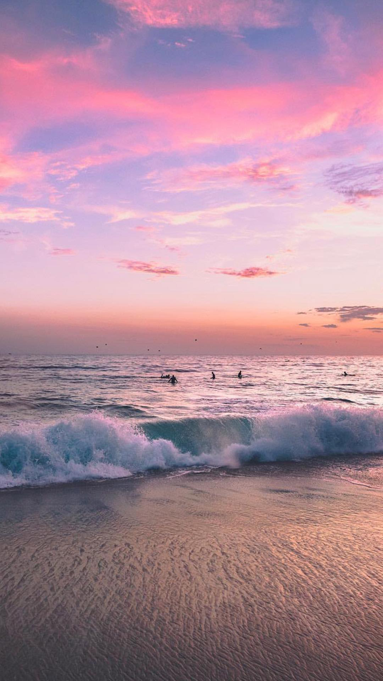 Beach sunset soft waves | Wallpaper | Pinterest | Handy ...