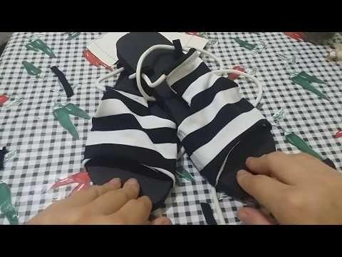 706a677a79b8 Chinelo com tecido parafusado  modelo modinha de amarrar molde grátis -  YouTube