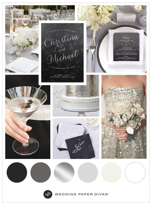 Almost 50 Shades Of Grey Wedding Ideas