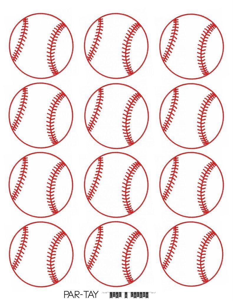 Baseball Tags Free Printable Party Like A Cherry Baseball Theme Party Baseball Birthday Party Baseball Birthday