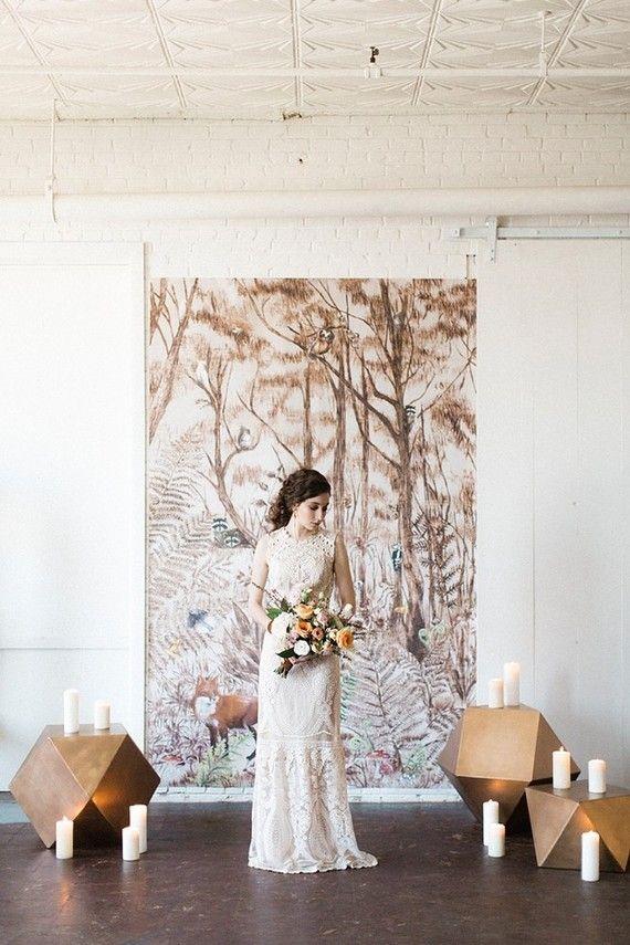 Feminine forest wedding inspiration