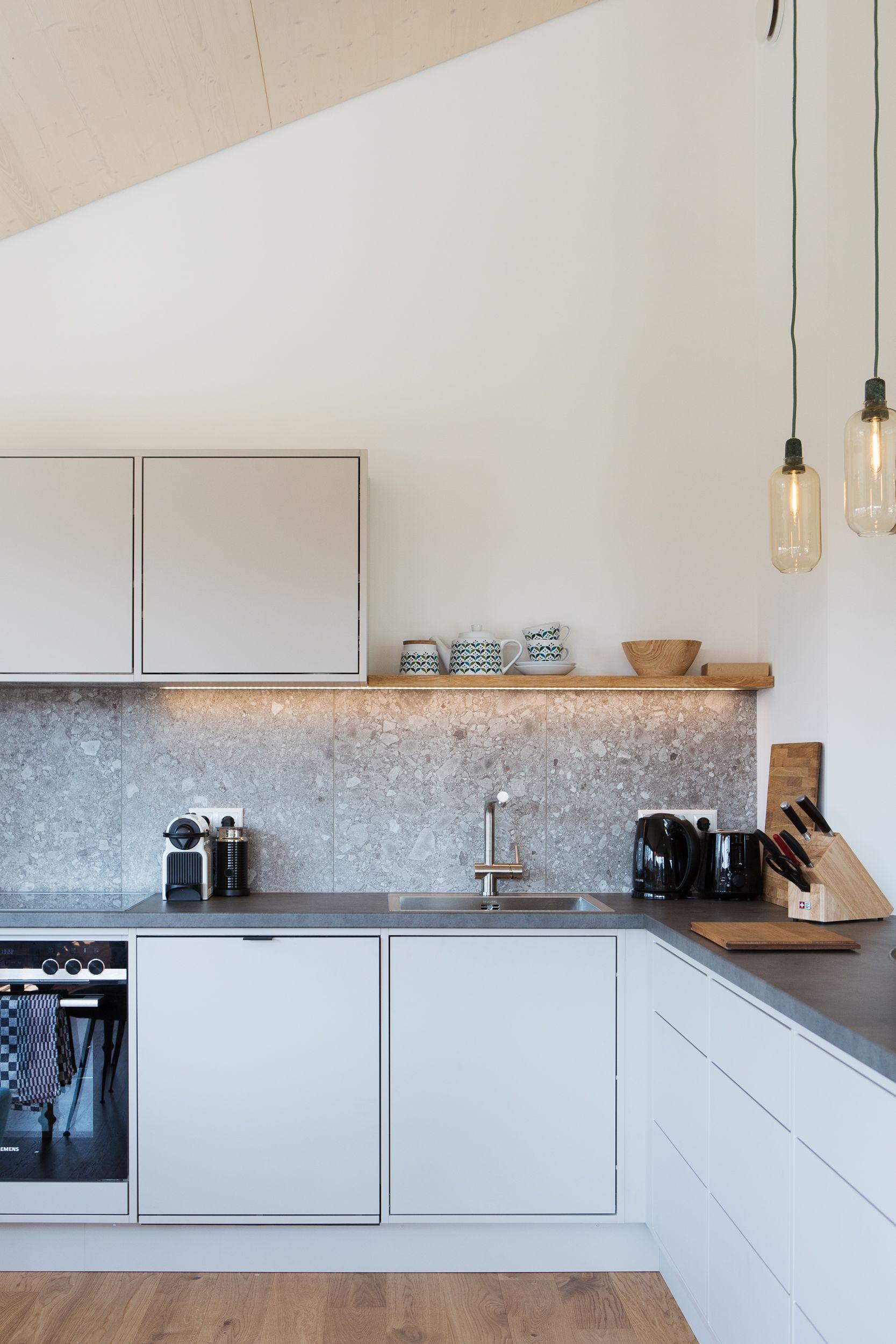 Küche mit Fliesen in Betonoptik tolleküche