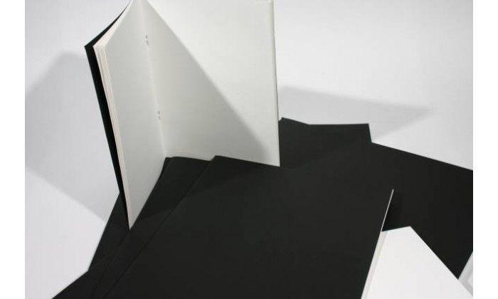A4 A5 Artist Sketch Book White Cartridge Paper Black Card Cover Art Pad