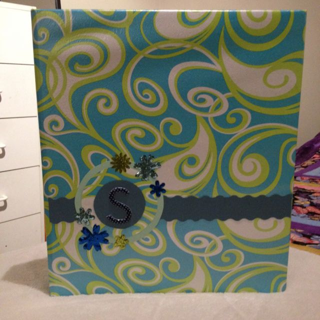 DIY Wrapping Paper And Scrapbooking Paper Covered Binders
