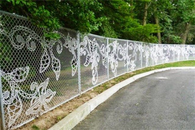 Original Metal Garden Fencing With Decorative Cloth The Garden Fence Panels  Can Become The Canvas To Express Your Artistic Talent Or So For The Most ...