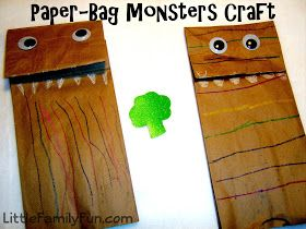 Little Family Fun Monsters Don T Eat Broccoli Halloween Activities For Kids Book Crafts Halloween Activities