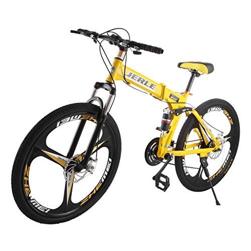 Happybuy Folding Bicycles 26 Inch Full Suspension Folding Mountain