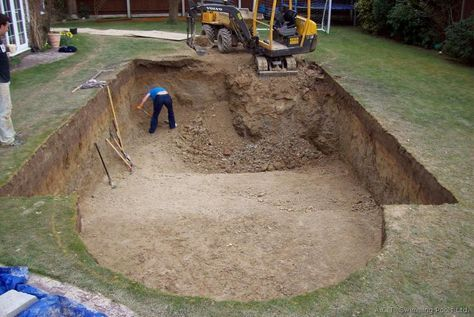 Build your own pool   Building a swimming pool, Building a ...
