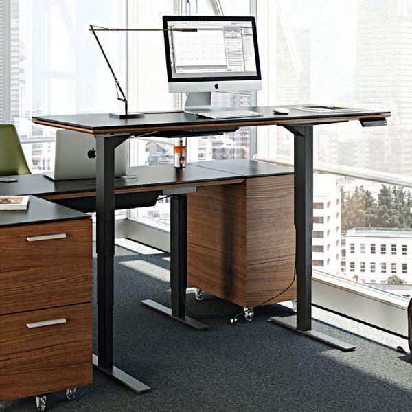 Sequel Adjustable Glass Standing Desk