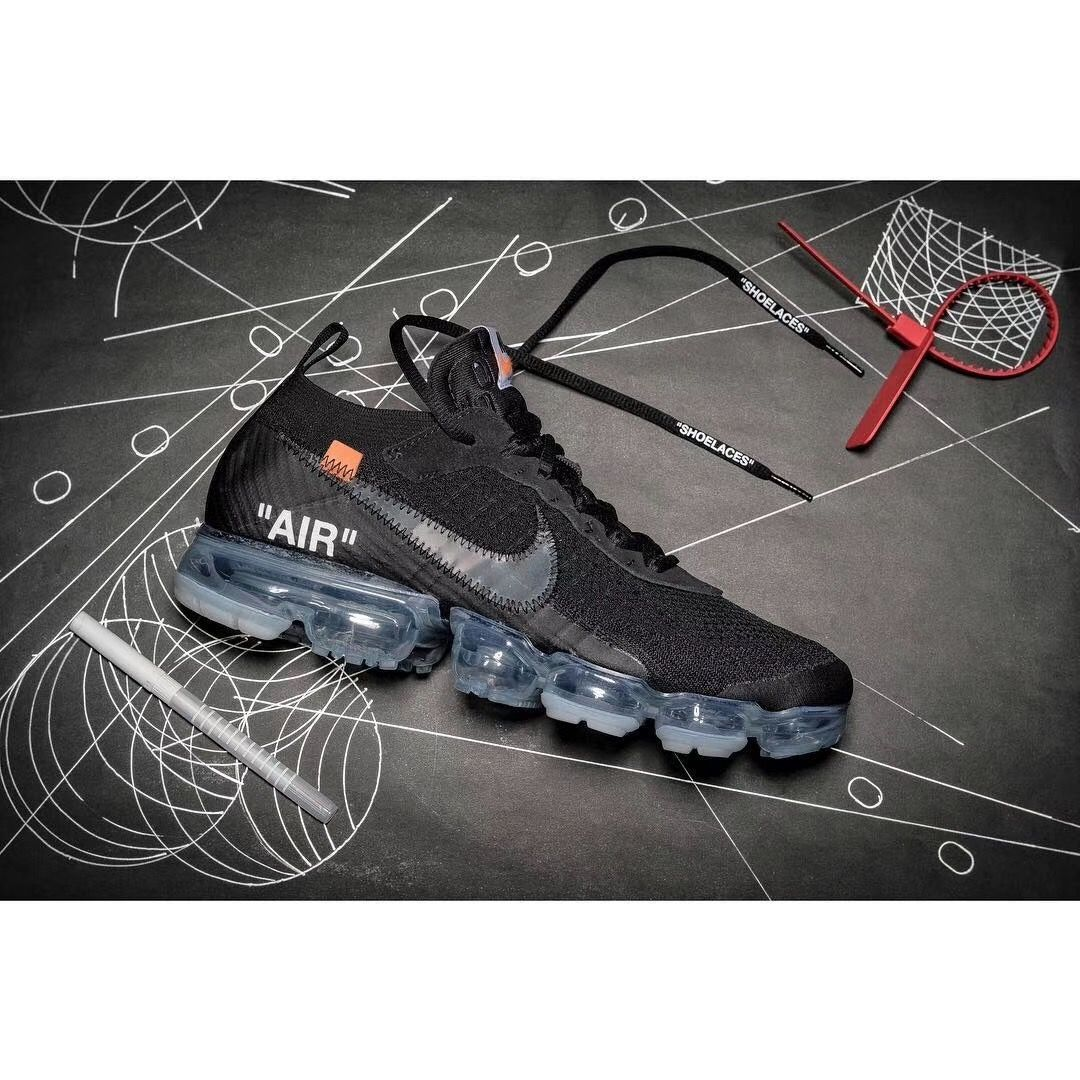 OFF WHITE x Nike OW 2.0 Air VaporMax 2018 Flyknit Black