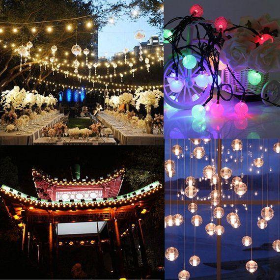 Led Garden Lights Outdoor Lanterns, 3M 20LED Battery Bubble Fairy