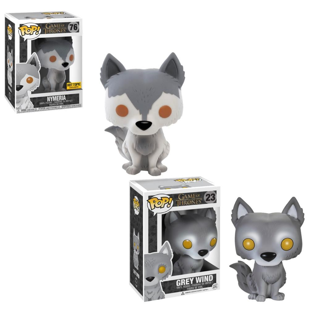 Funko Pop Game Of Thrones Figure Pet Direwolf Nymeria Grey Wind Ghost Model Toys Collectible Gift Vinyl Doll Game Of Thrones Toy In 2020 Game Of Thrones Figures Pop Game Of