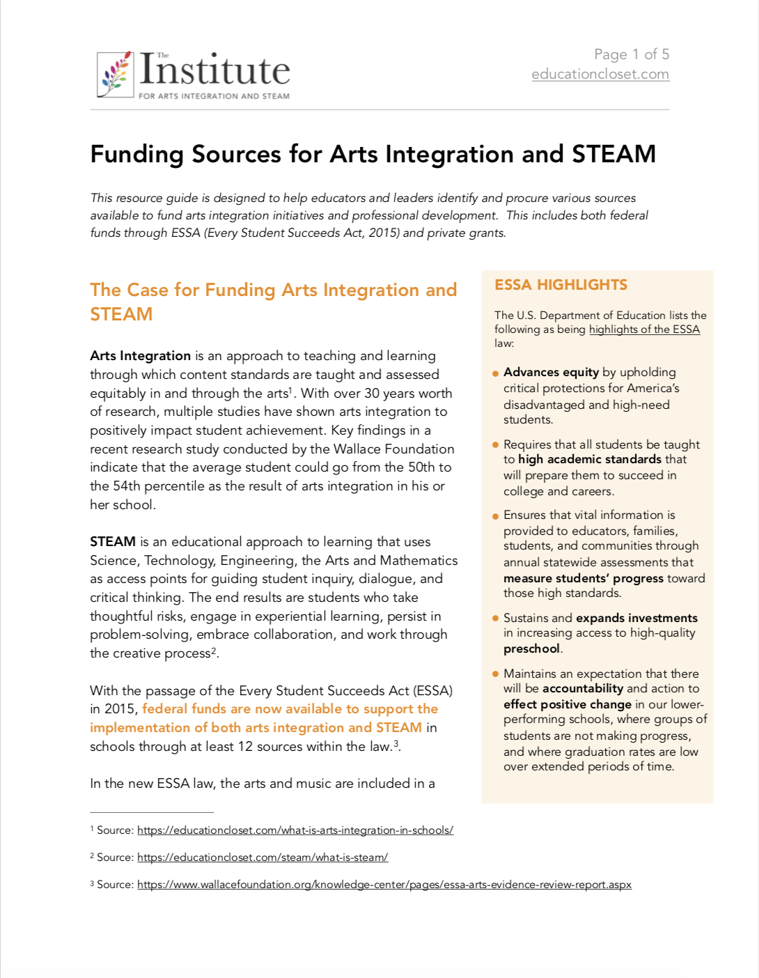 How To Find Arts Integration And Steam Funding For Schools