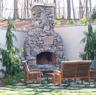 Outdoor Fireplace Ideas and Design: Outdoor Fireplace Built In Two Days