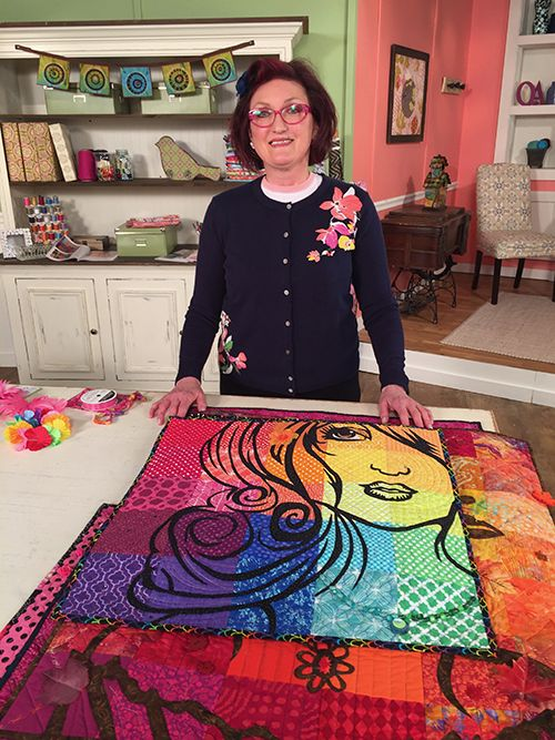 Laurie Ceesay Guest On Quilting Arts Tv Series 2200 Qatv