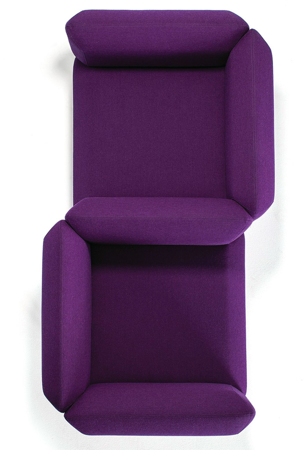 Upholstered 2 seater fabric sofa segment collection by for Prostoria divani