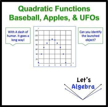 Quadratic Functions (Coconuts and UFOs) | Algebra 1 & 2