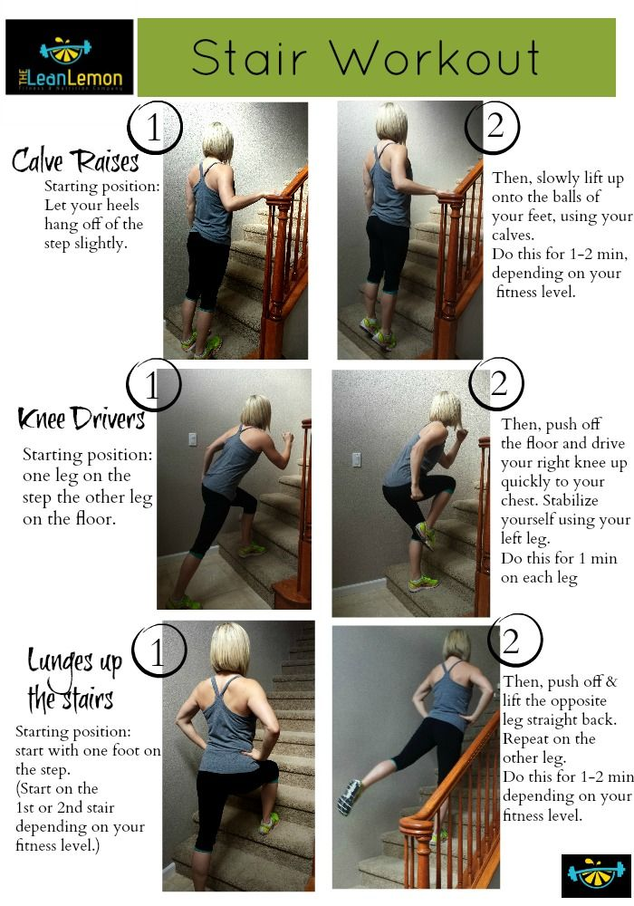 The Lean Lemon Fitness And Nutrition Stairs Workout Workout Exercise