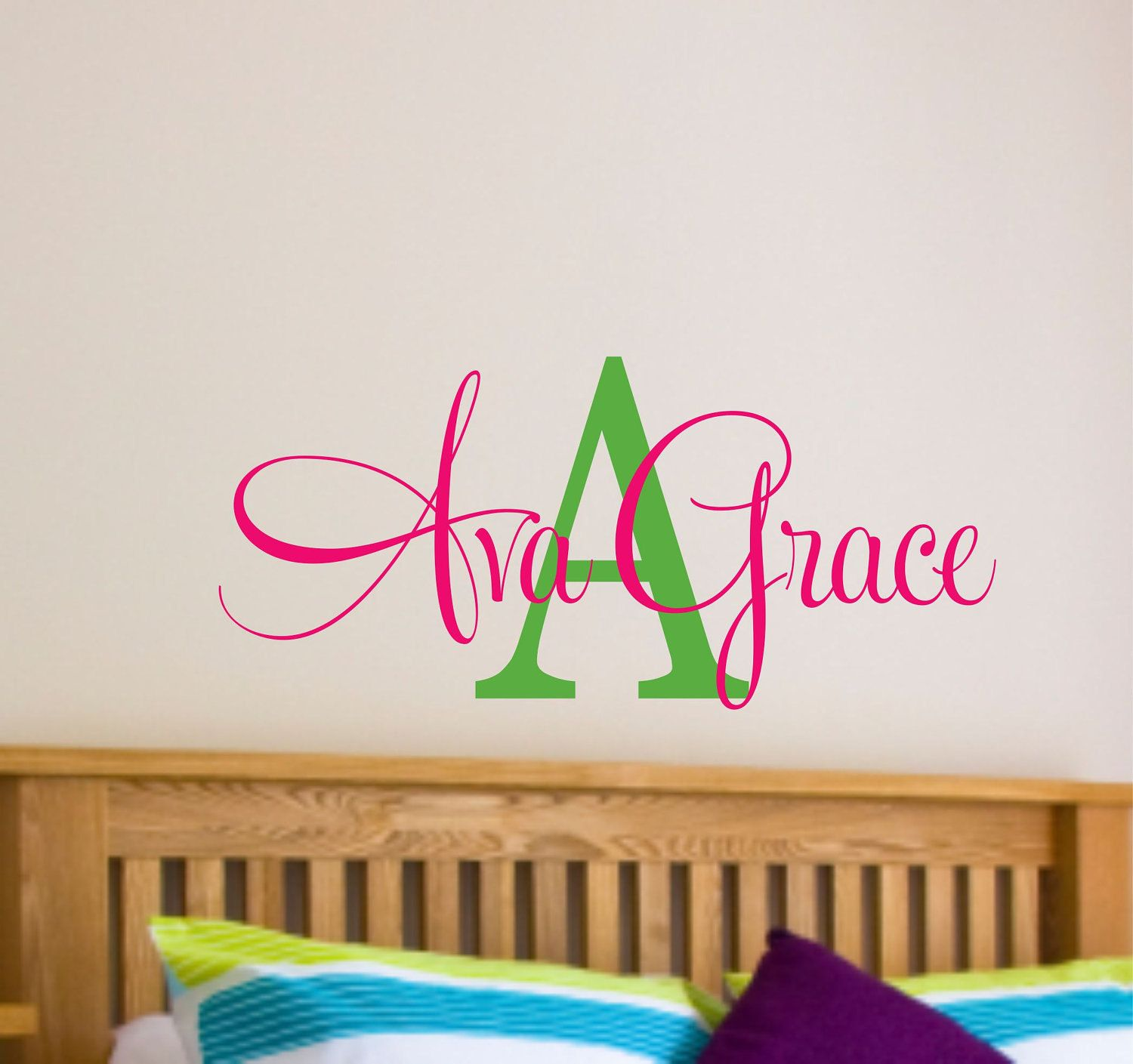 Girls Name Wall Decal   Name Wall Decal   Nursery Wall Decal   Teen Name Wall  Decals   Personalized Wall Decals