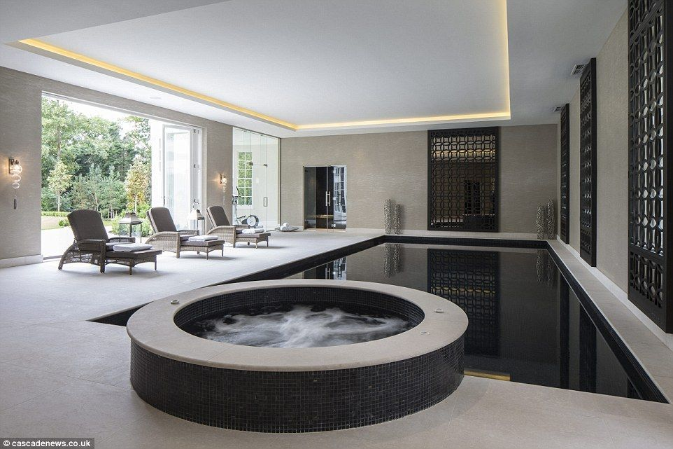 There Is An Indoor Swimming Pool And Hot Tub For When It S Time To Relax With Space For Loungers At Pool Side An Indoor Swimming Pool Design Dream House House