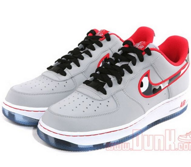Nike Air Force 1 Low  Wolf GreyHyper Red