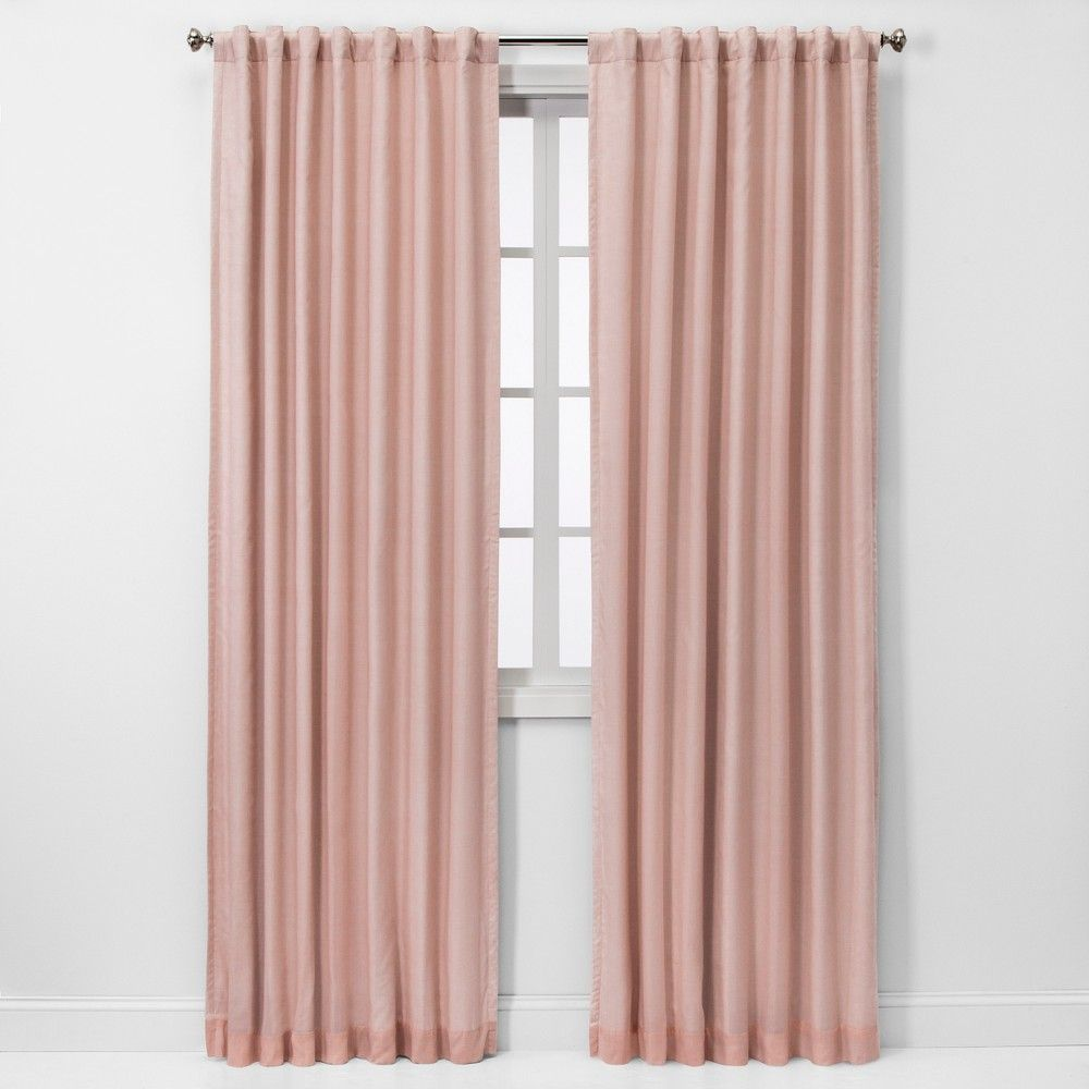 108 X50 Blackout Window Curtain Panel Pink Threshold Panel