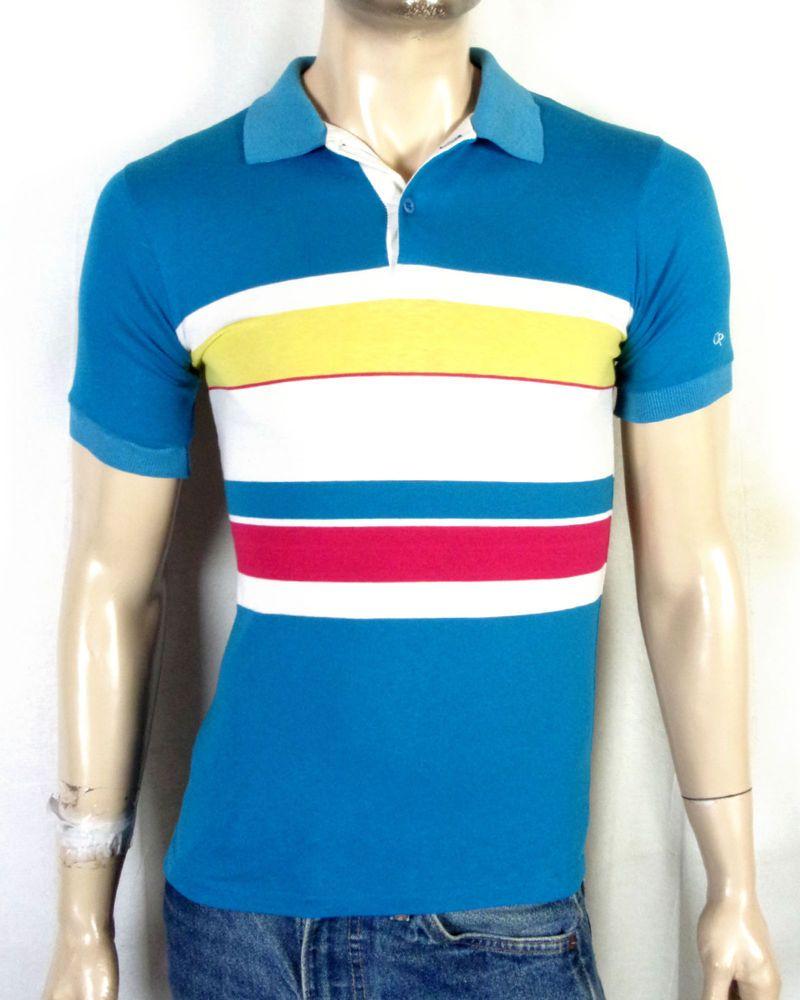 Vtg 70s 80s Ocean Pacific Soft Thin Op Striped Surf Skate Polo Shirt