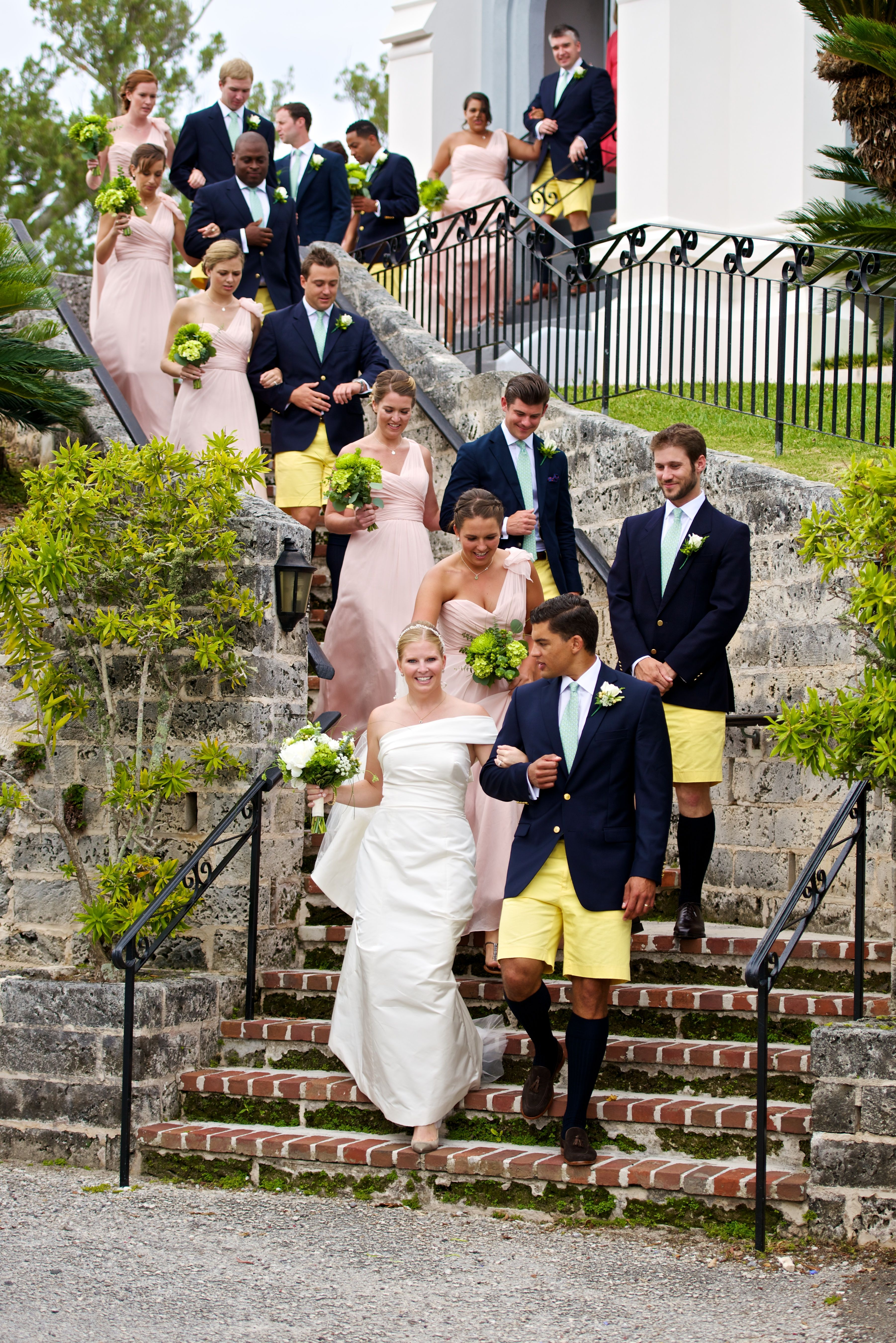 Bermuda Wedding With The Groom Groomsman Wearing Tabs Bermuda