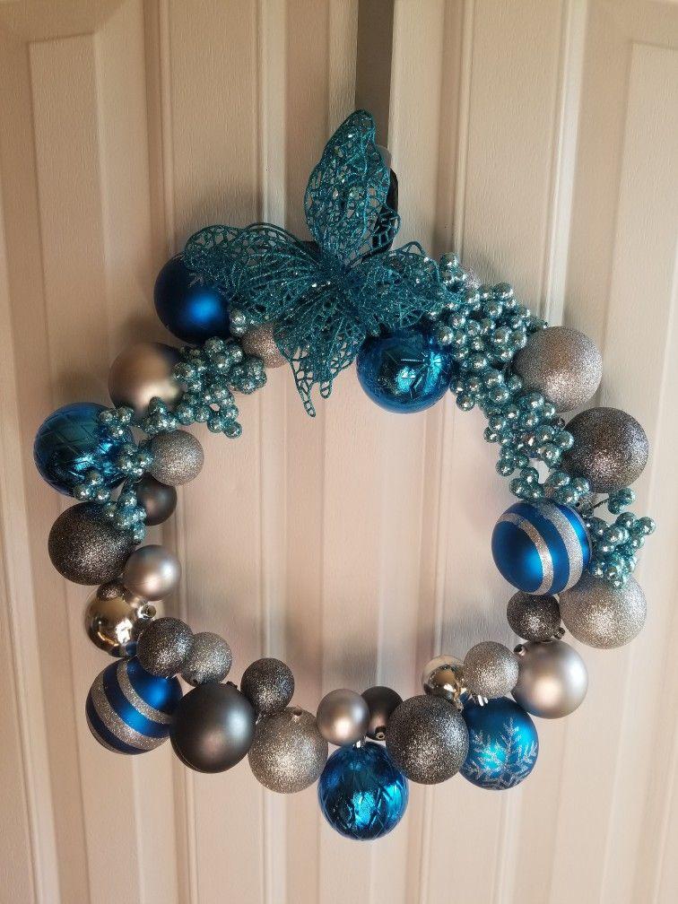 DIY coat hanger wreath Ornament wreath, Wreaths, Diy coat