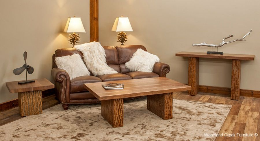 Refined Rustic Living Room Furniture By Woodland Creek.