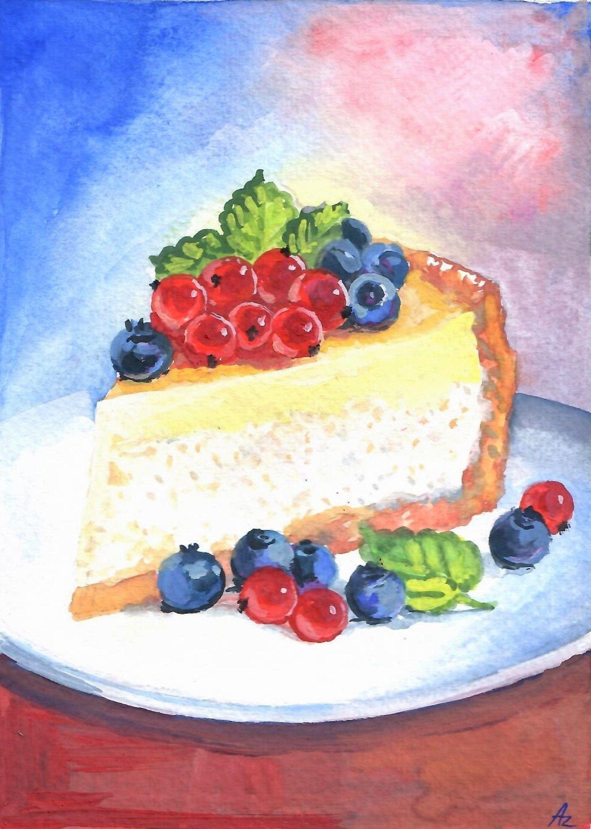 Original Print  antique print decorative art kitchen decor wall art Cake art dessert art Artistic Dishes