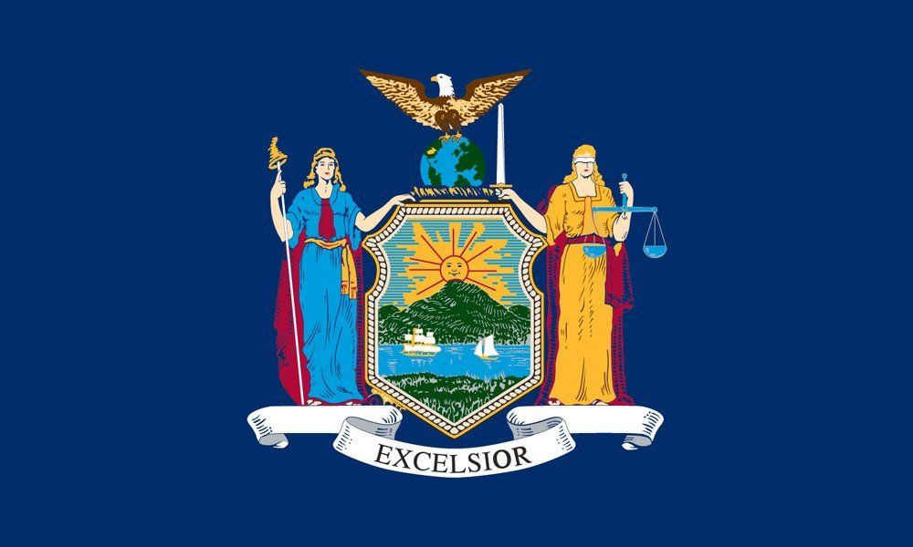 New York State Flag Coloring Pages Art New York Flag Coloring