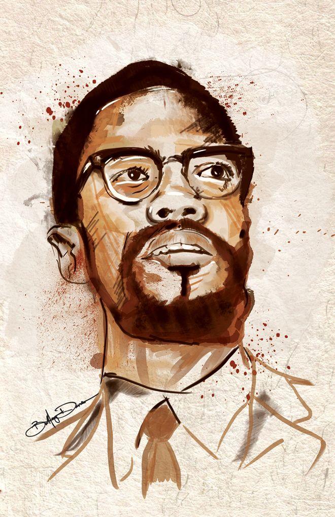4ccdba209e0 Malcolm X Digital Watercolor by bcdavis (via Creattica)