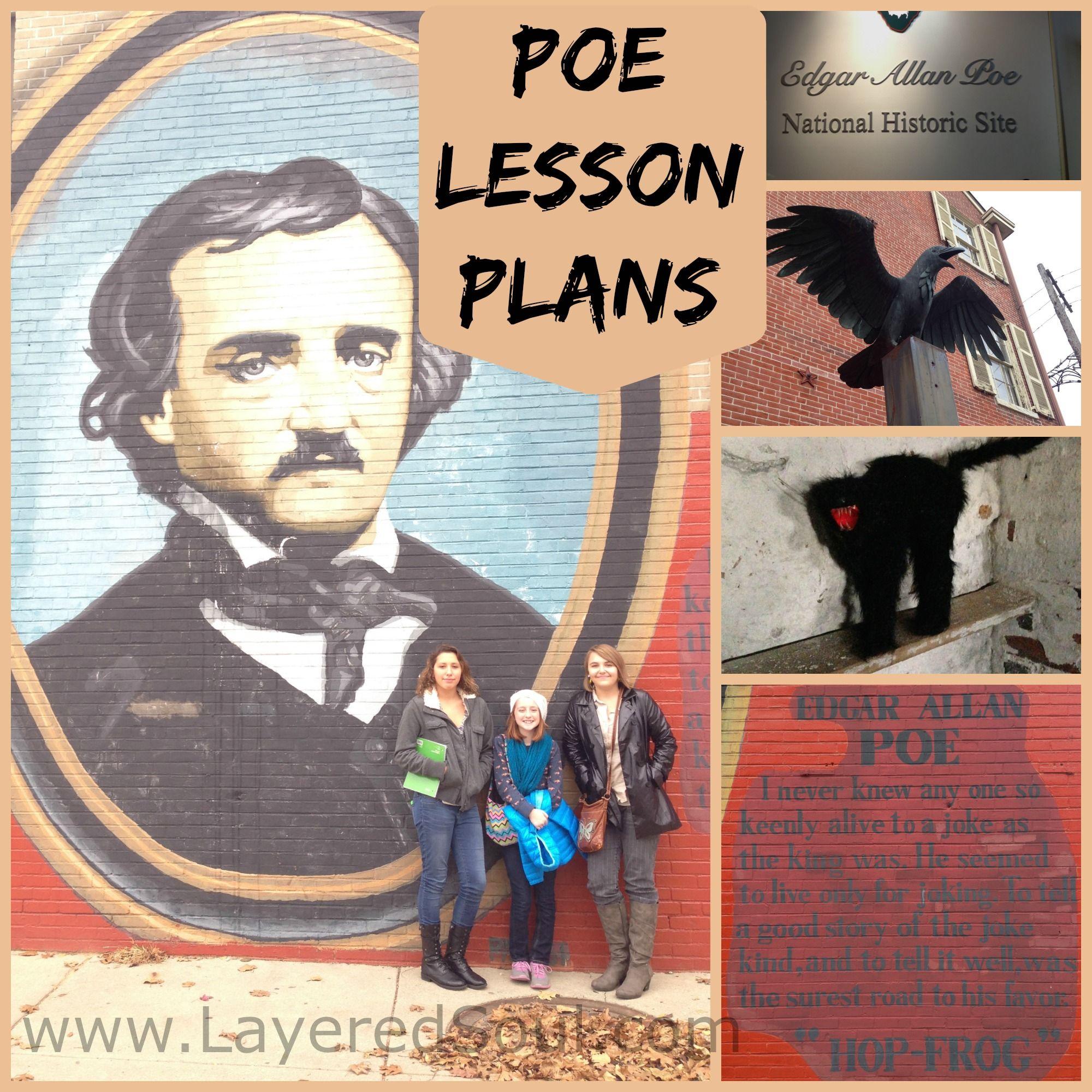 edgar allan poe lesson plans for high school