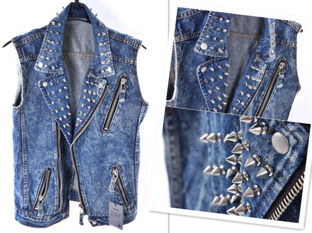 Denim jacket vest men's – Modern fashion jacket photo blog