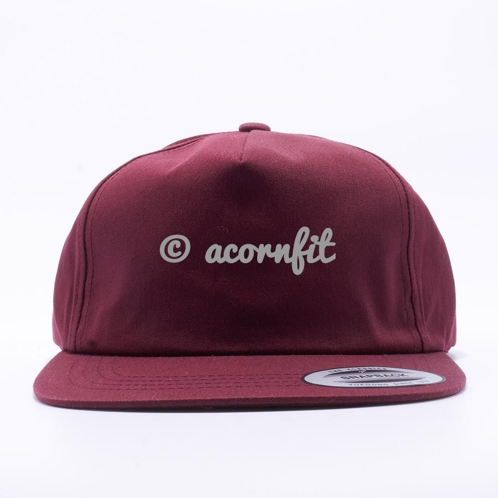 0d939b25c89aa Wholesale Yupoong 6502 Unstructured 5 Panel Snapback  Maroon