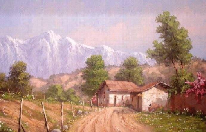 La casa de campo casa de campo y accesorios pinterest - Cuadros de casas de campo ...
