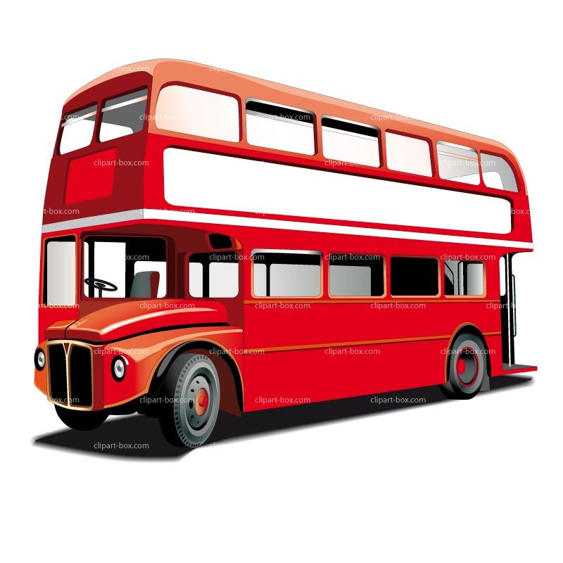 clipart double decker bus royalty free vector design clip art rh pinterest com clipart english double decker bus Bussing Tables Clip Art for Your Own
