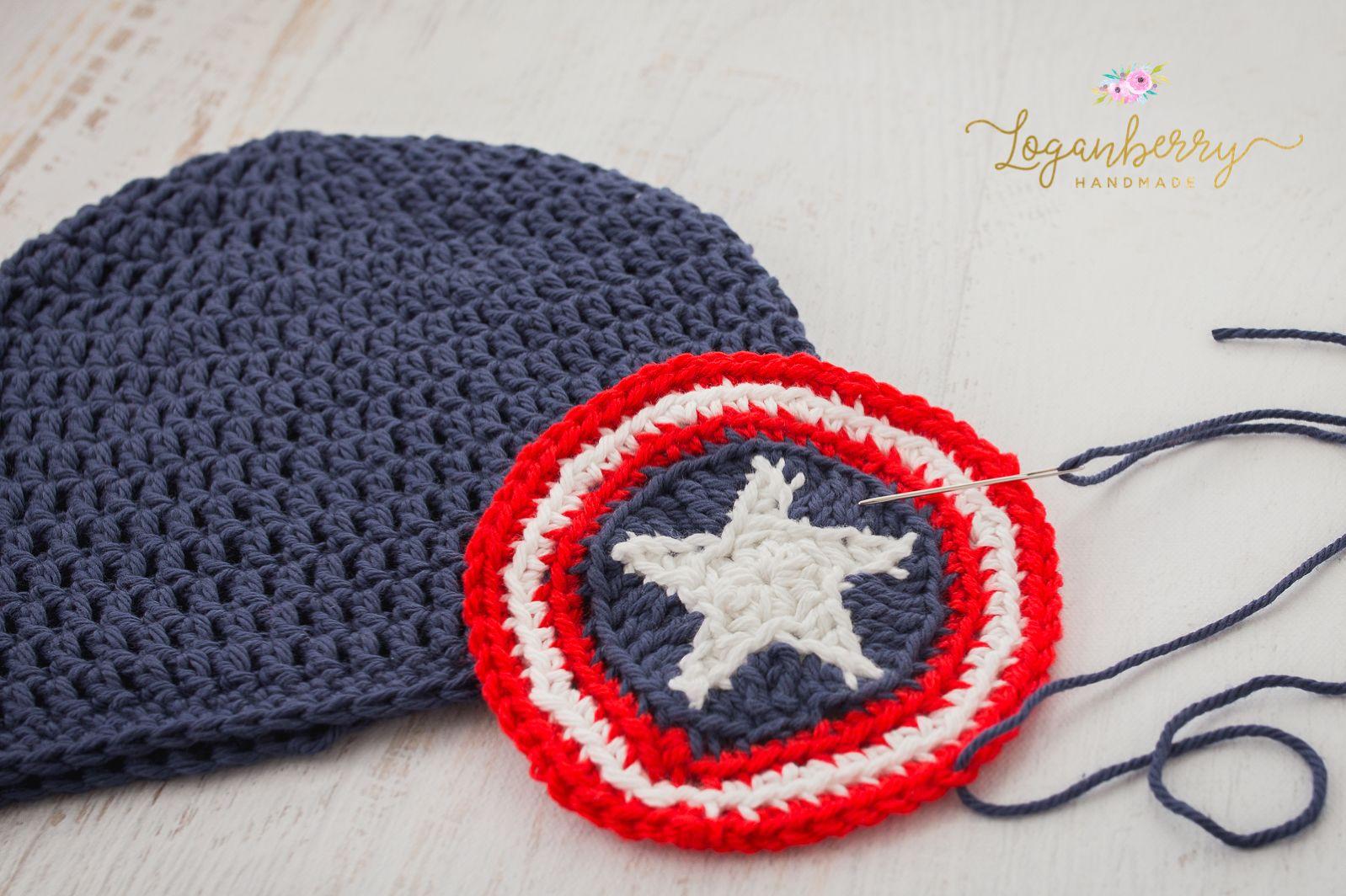 Crochet Captain America Beanie Pattern Crochet Kids Beanie Pattern