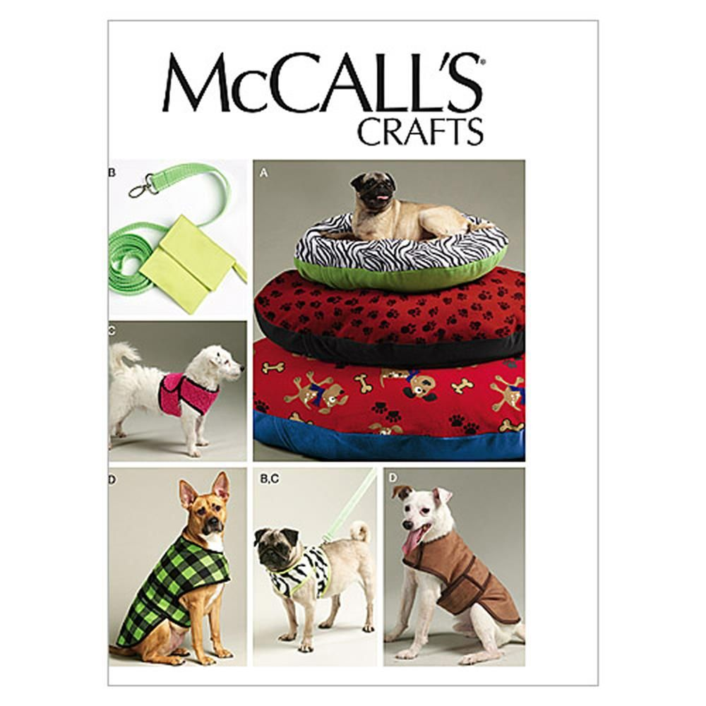 McCalls-6455-OSZ McCalls Pets Easy Sewing Pattern 6455 Dog Bed In 3