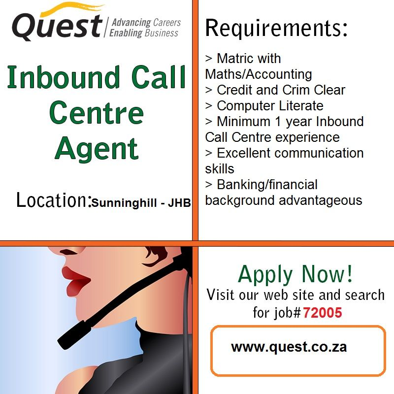 Call Centre Agents Urgently Needed!!!! • NO Credit or Criminal ...