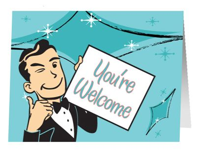 You Are Welcome Funny Clipart   Welcome card, Clip art ...