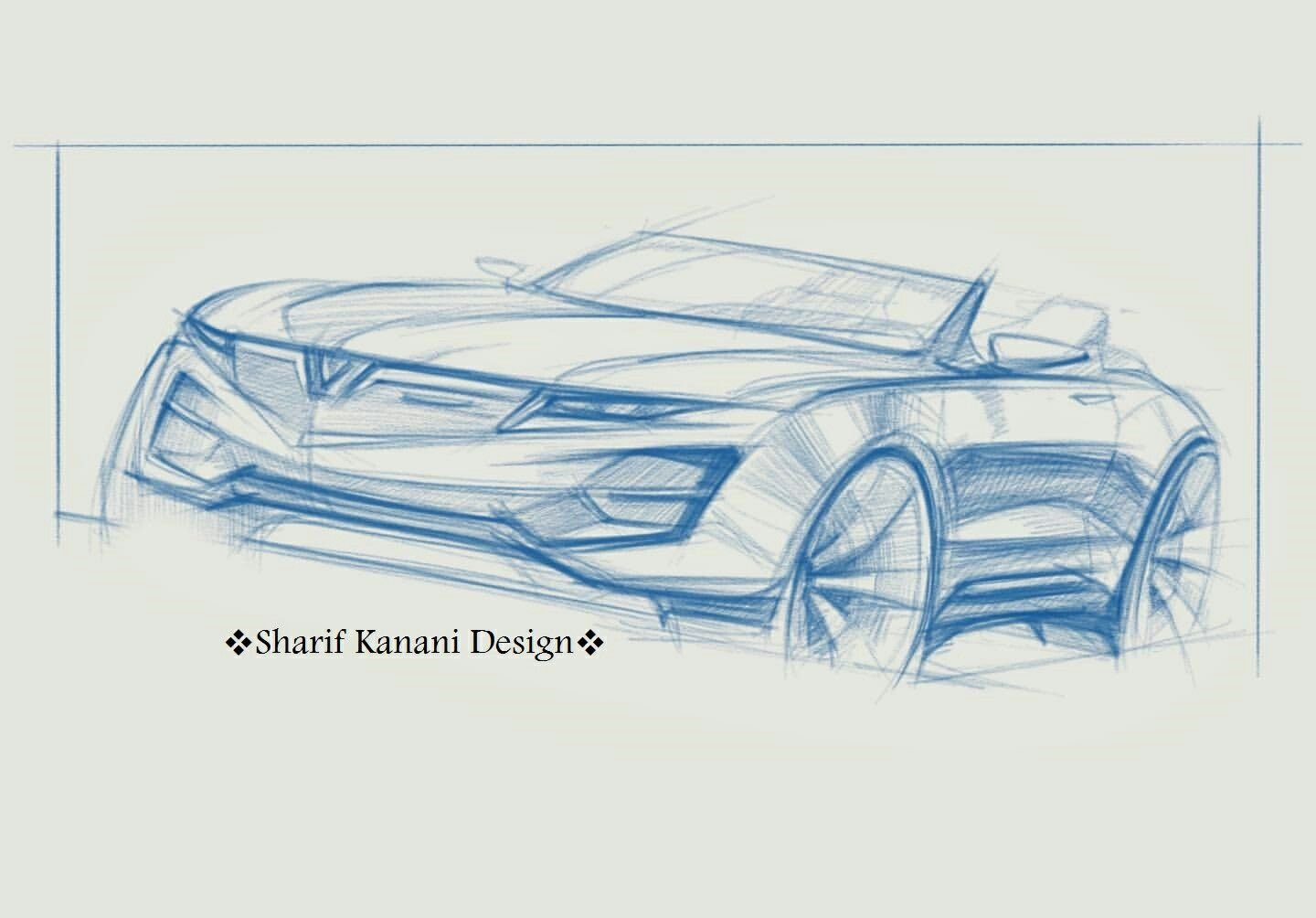 Free Hand Sketch of Convertible Model 02 . #handsketch #carsketch #cardesign #automobile #vehicle #art #pencil #sketch #draw #cardesigner #sketchbook #convertible