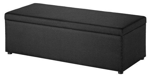 Ultra Benk m/oppbevaring 140x57x45cm svart | JYSK | speakers | Furniture RZ-28