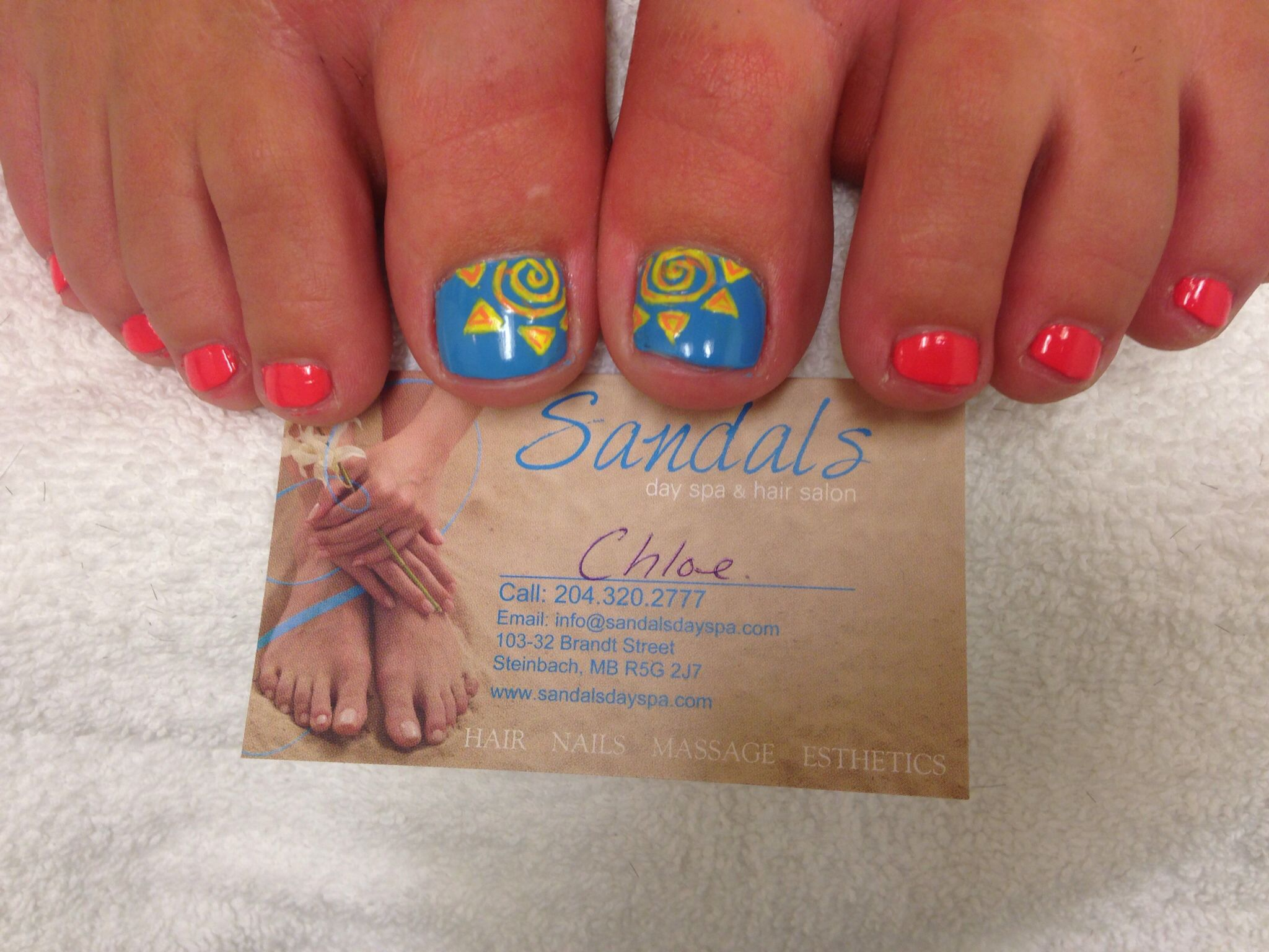 Sunshine Summer Nails Toe Nails Cute Nails