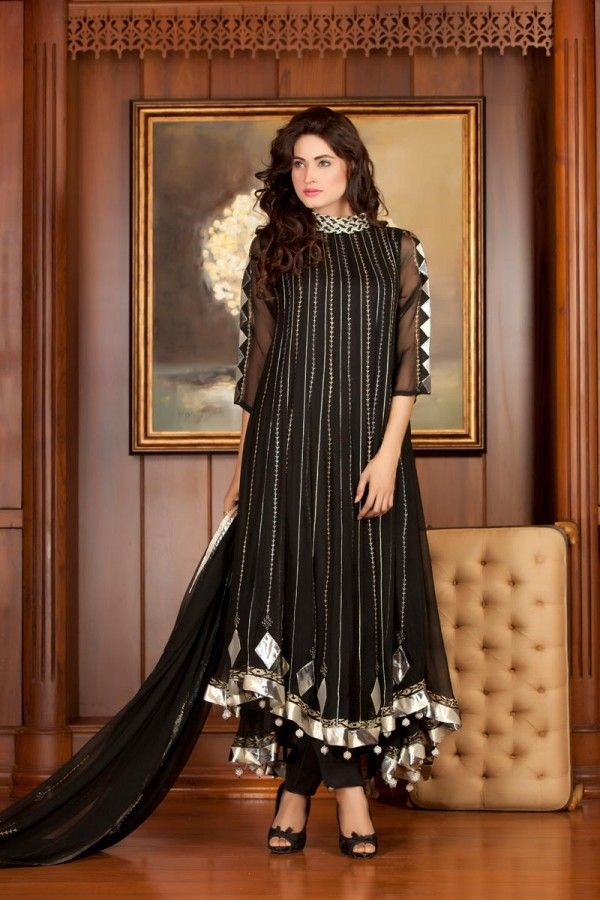 Latest Pakistani Party Dresses and Frock Designs 2016-2017 ...