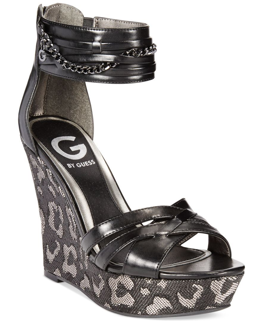 G by Guess Women's Diala Platform Wedge Sandals