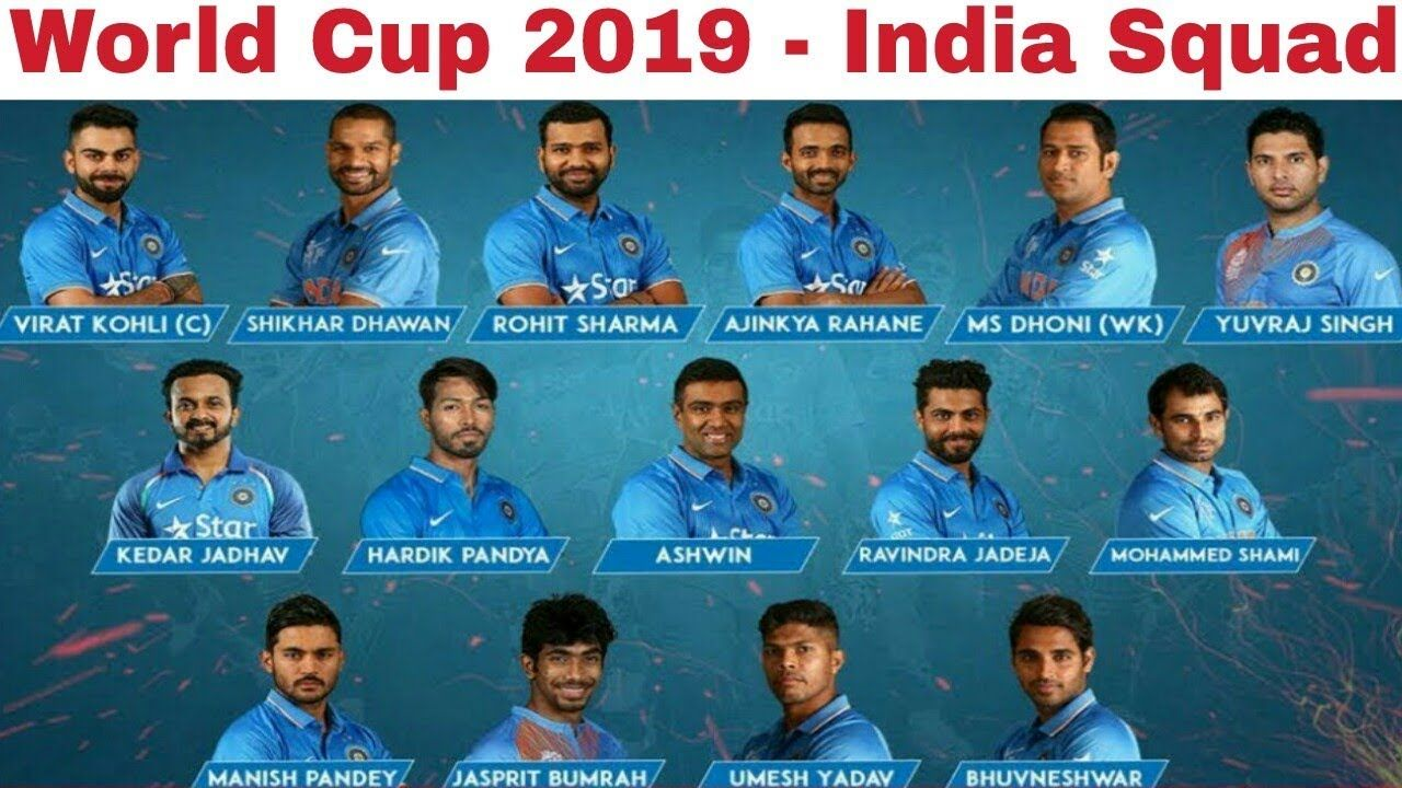 World Cup Squad Announced 15 Players 2 Players For Tamilnadu World Cup World Squad