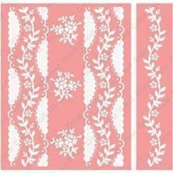 Cricut Cuttlebug A2 Embossing Folder/Border Set - Anna Griffin Organdy Stripe